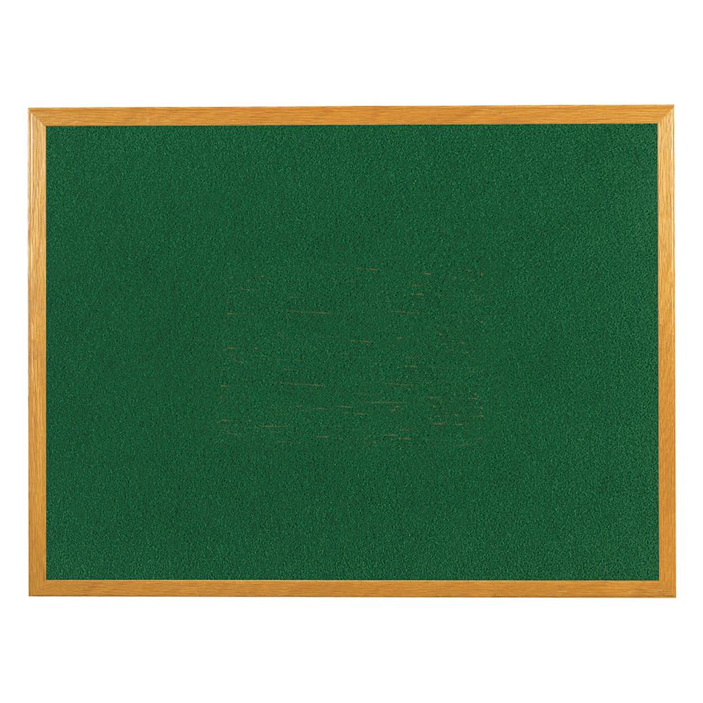 Business Felt Noticeboard Wooden Frame W1200xH900mm Green