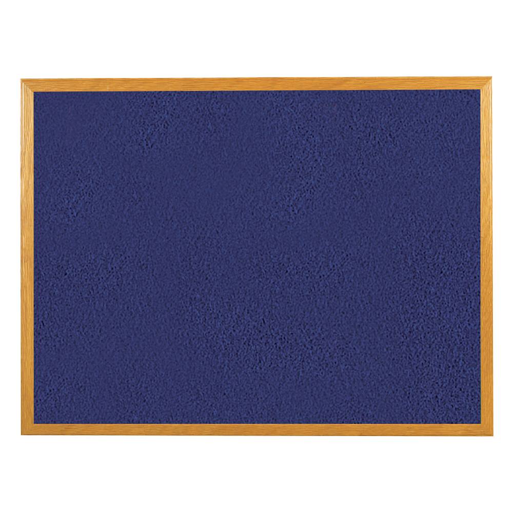 Business Felt Noticeboard Wooden Frame W1800xH1200mm Blue