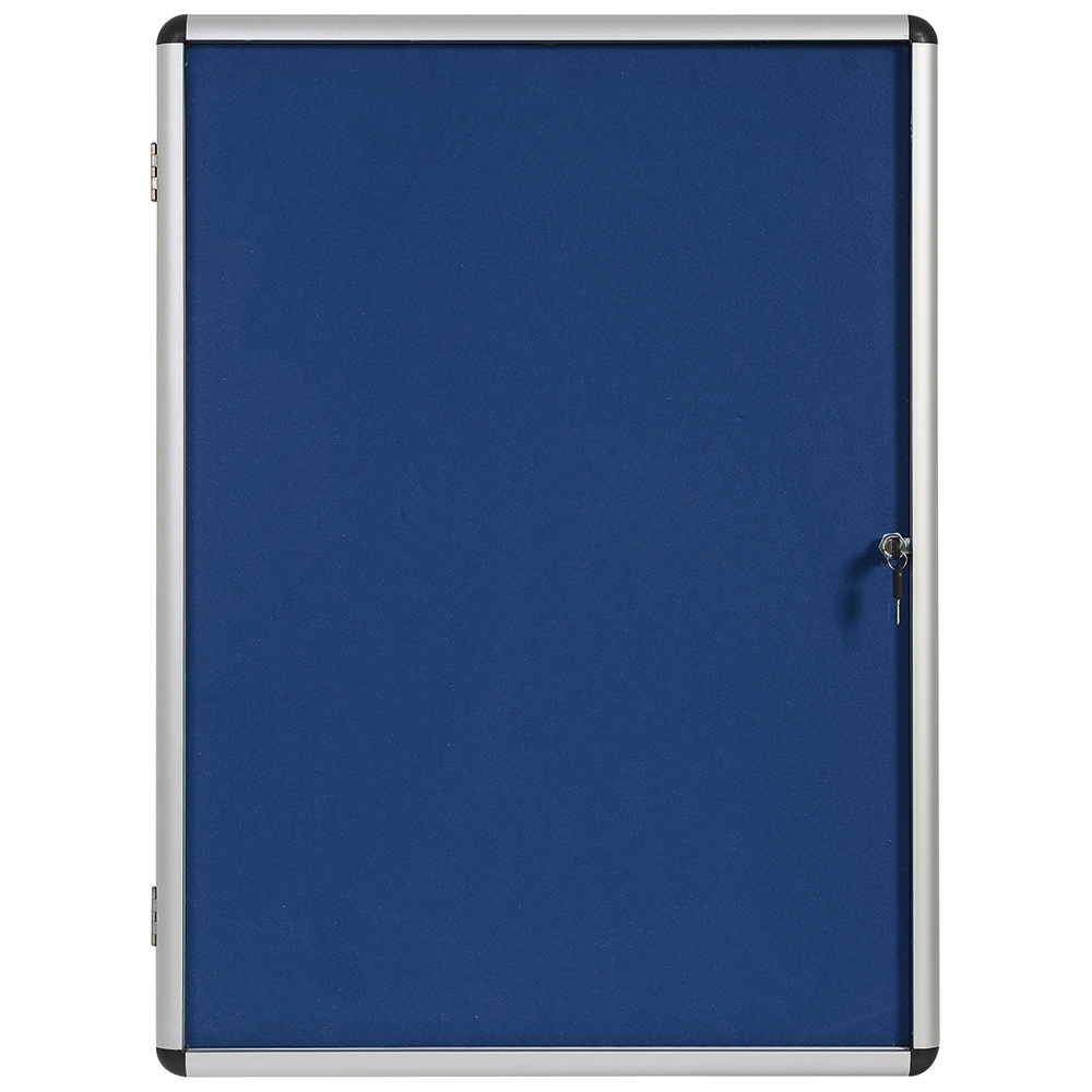 Business Noticeboard Glazed Lockable Aluminium Trim W1200xH900mm
