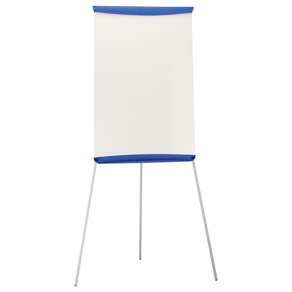 Business Flipchart Easel with W670xH990mm Board W700xD82xH1900mm Blue Trim