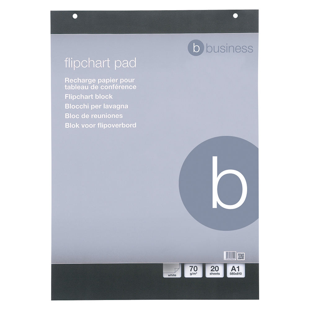 Business Meeting Flipchart Pad Perforated 20 Sheets A1 Plain [Pack 5]