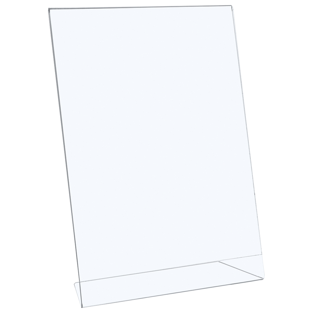 Image for Business Sign Holder Portrait Slanted A4 Clear