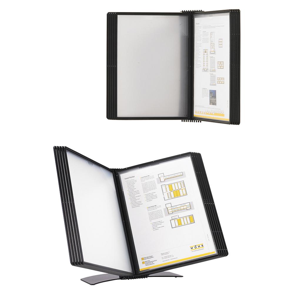 Image for Business Desk Display Panel System Easy Mount 10 Pockets A4