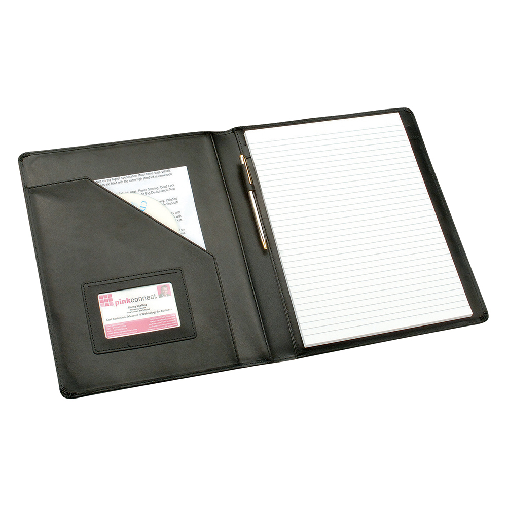 Image for Business Premium Executive Conference Folder Genuine Leather Capacity 30mm A4 Black