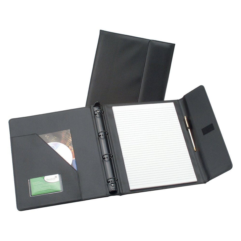 Image for Business Premium Executive Conference Ring Binder with Hook and Loop Closure Capacity 50mm A4 Black