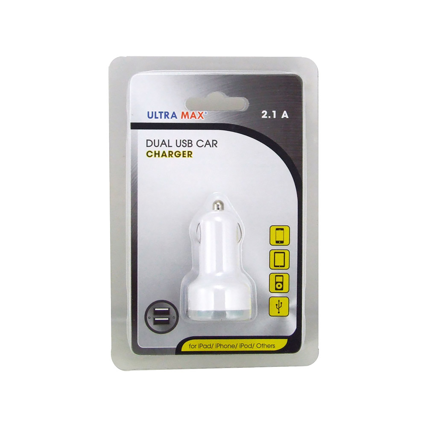 Car Charger 2.1A With Two USB Ports Ref ADPUMXC-2.1A