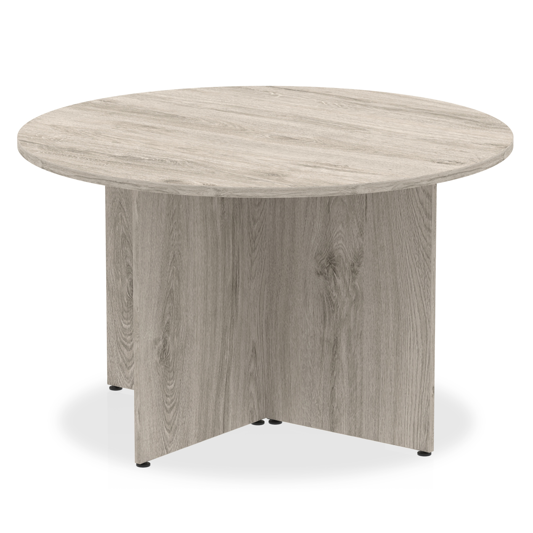 Tables Trexus Circular Table Arrowhead 1200x1200x730mm Grey Oak