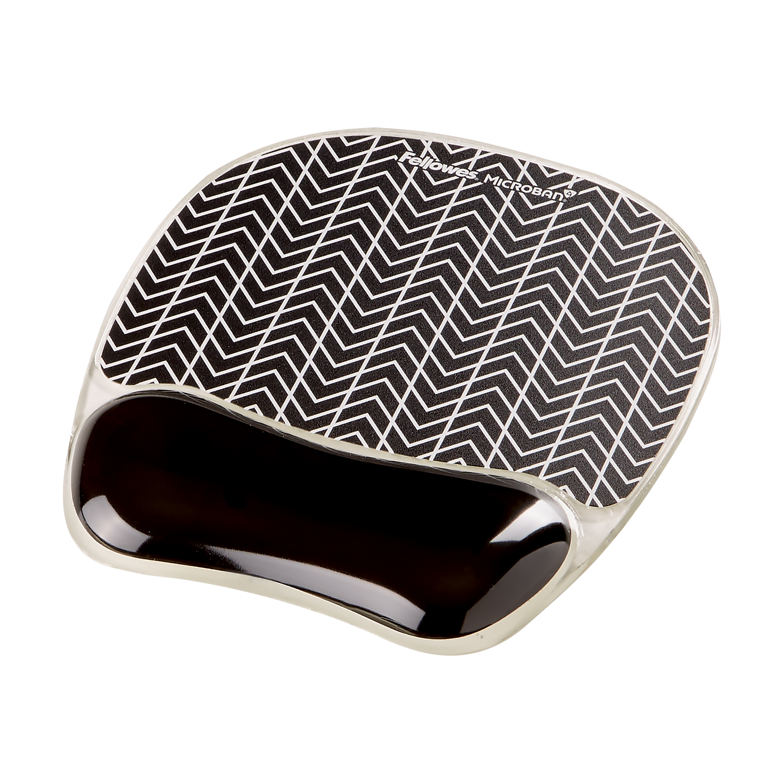 Keyboard wrist rest Fellowes PhotoGel Self Adjusting Mousepad Wrist Support Chevron Ref 9653401