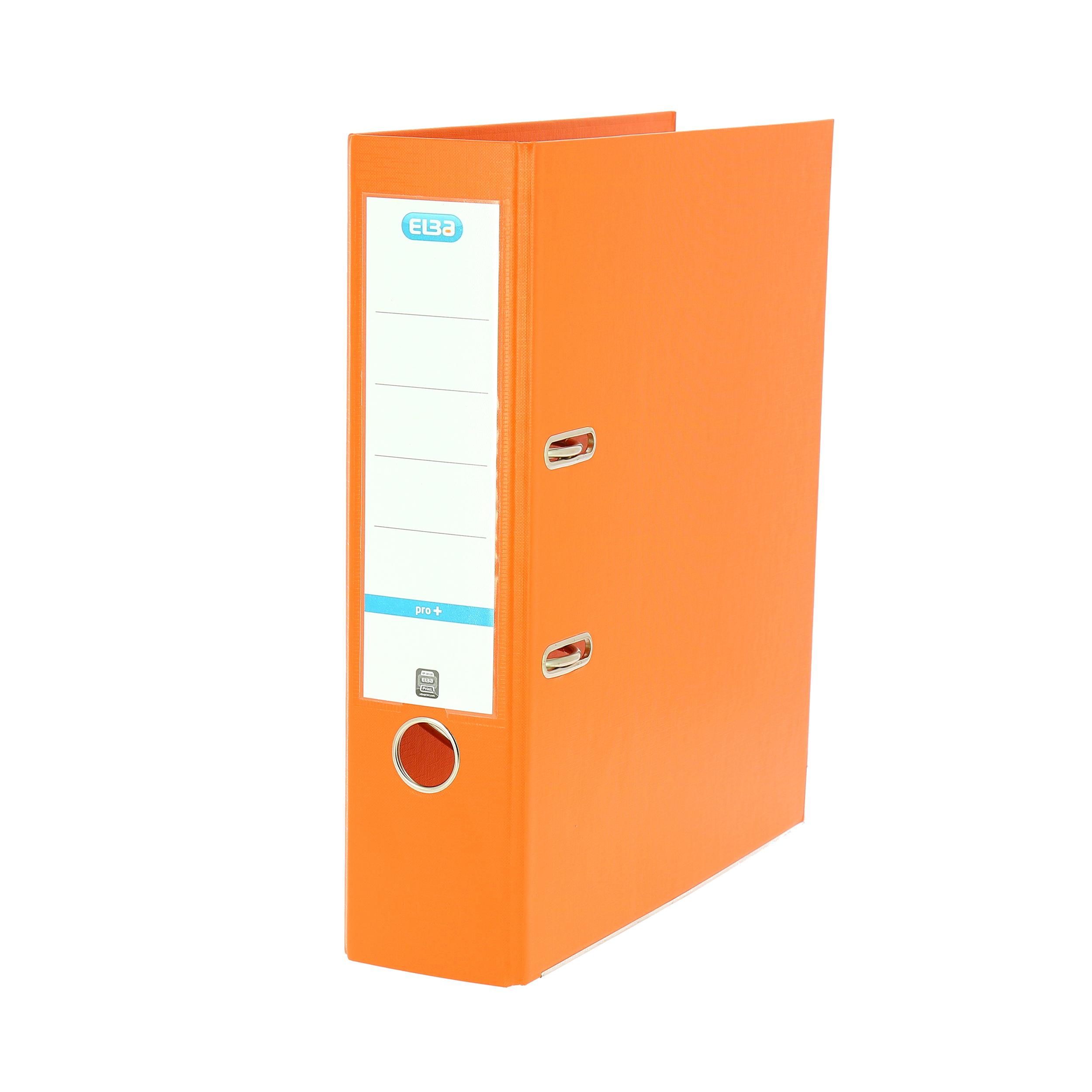 Elba Lever Arch File PP 70mm Spine A4 Orange Ref 100202170 Pack 10