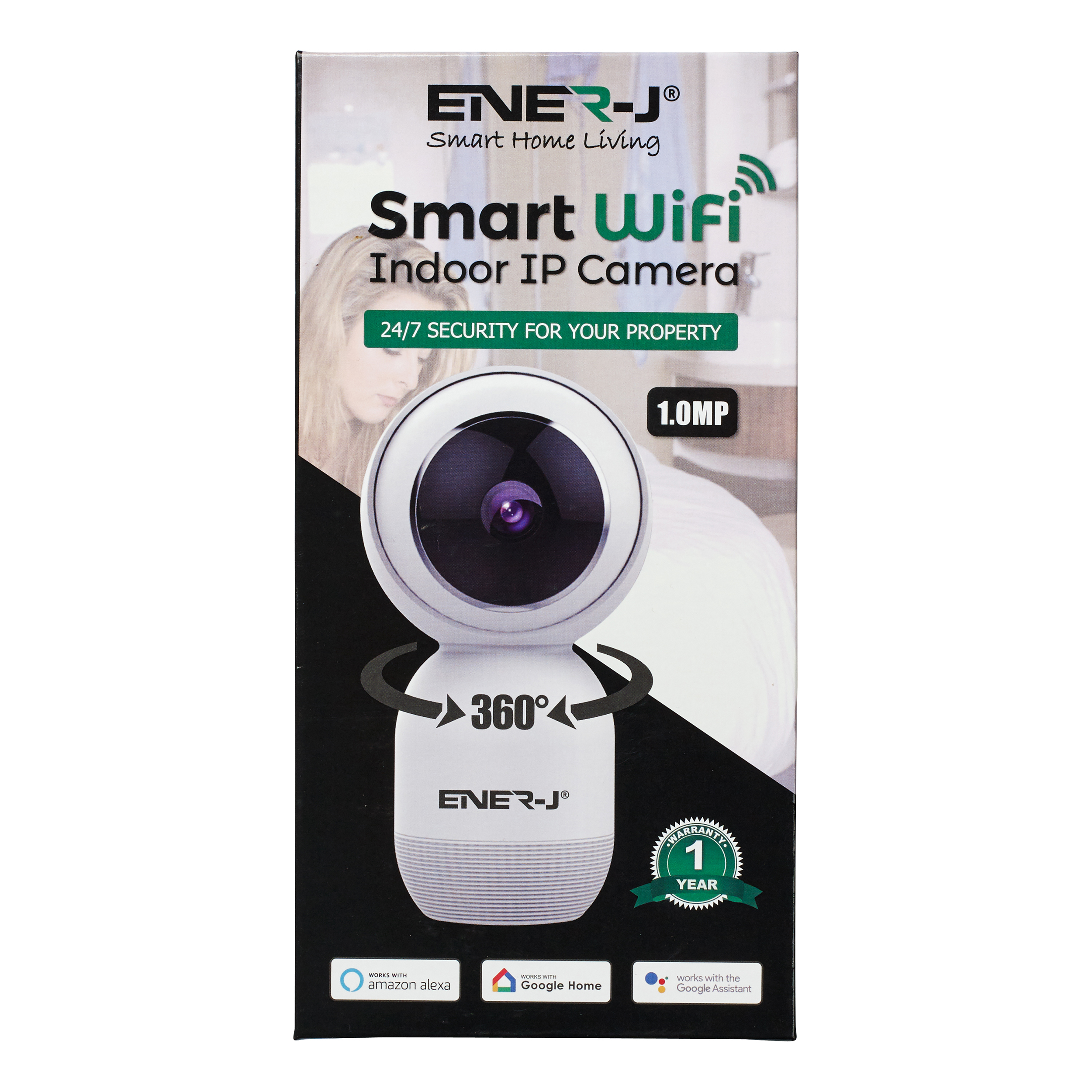 Ener-J WiFi Indoor IP HD Security Camera With Two Way Audio Ref IPC1023