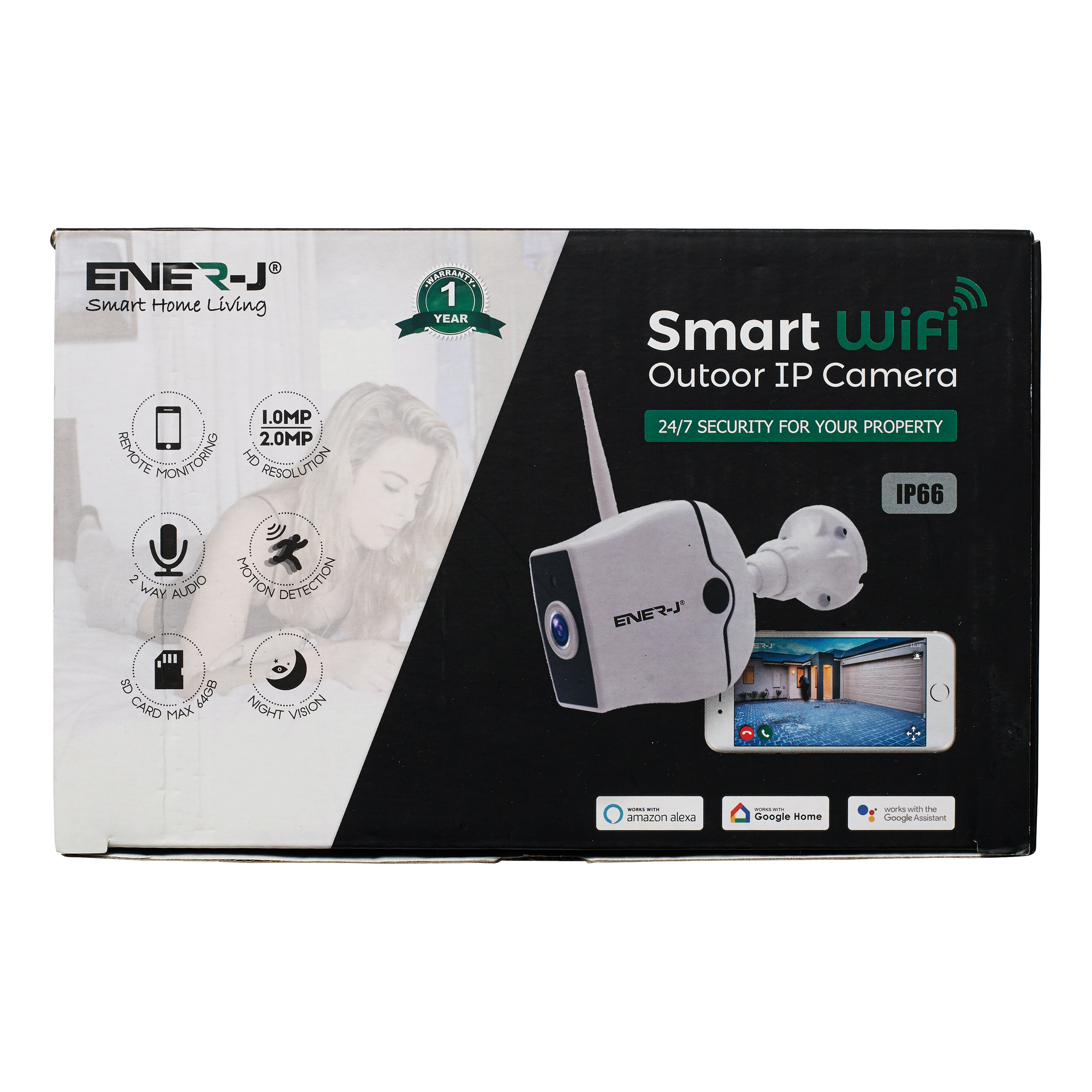 Digital cameras Ener-J WiFi Outdoor IP HD Security Camera With Two Way Audio Ref IPC1021