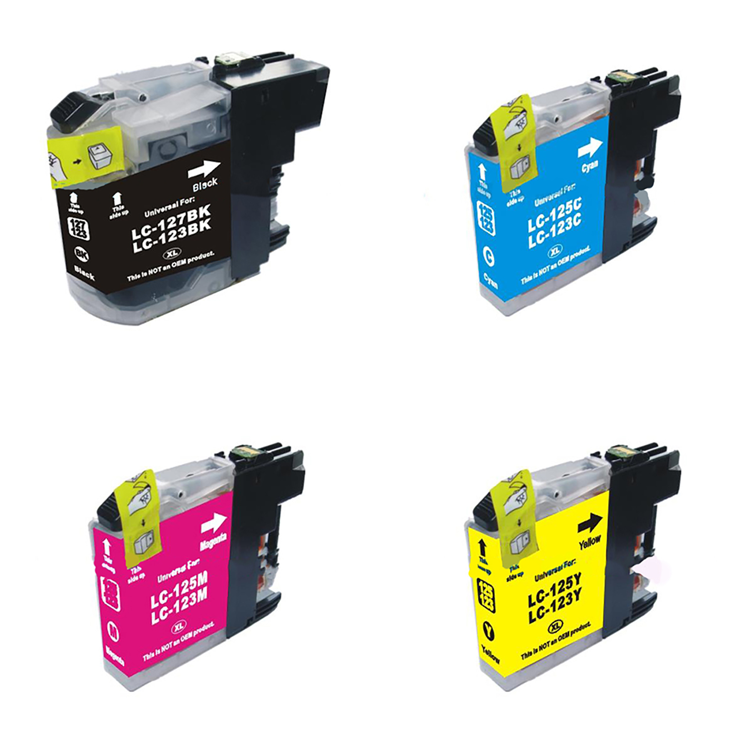 Ink cartridges 5 Star Value Remanufactured Inkjet Cartridge Page Life 600pp B/C/M/Y [Brother LC123 Alternative] [Pack 4]