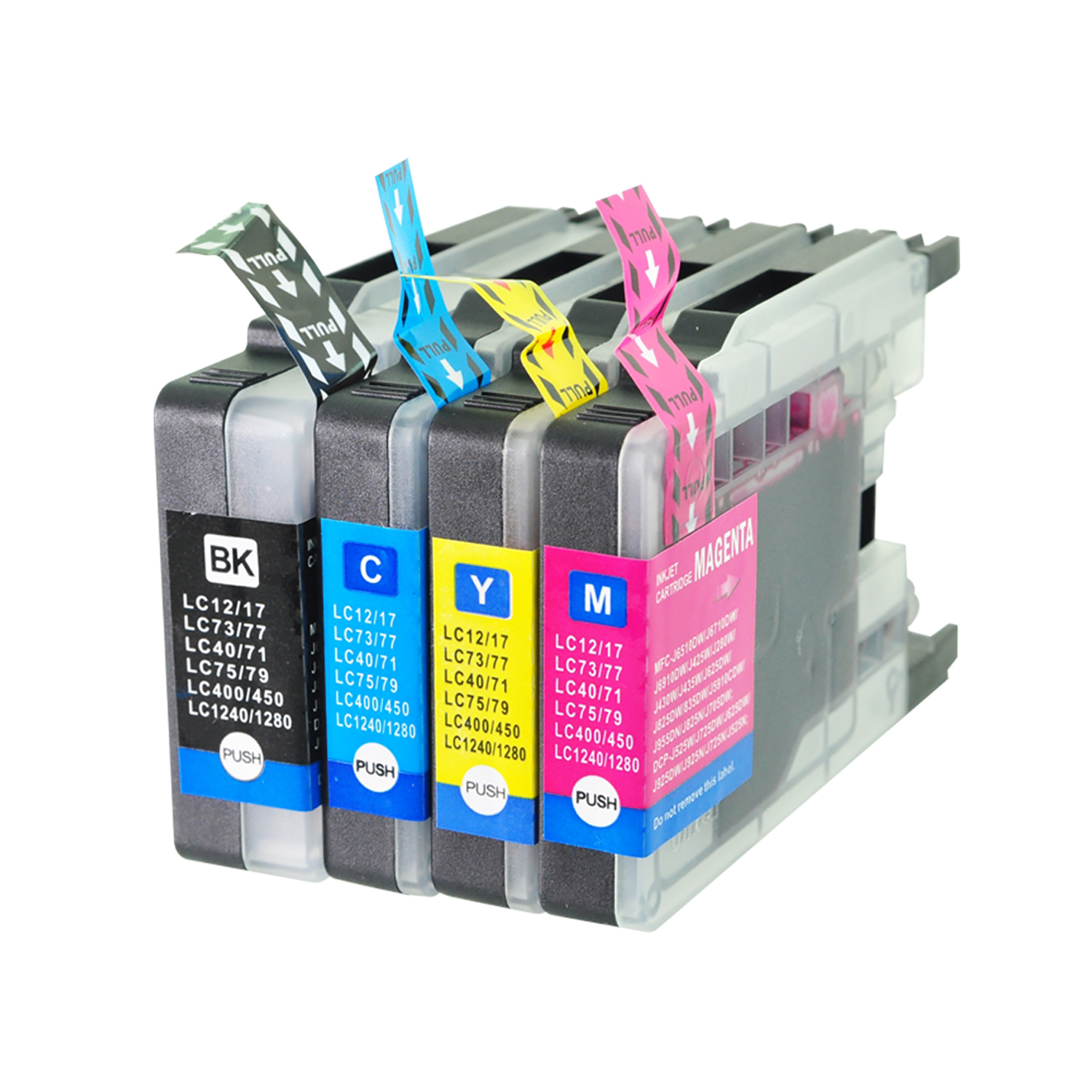 Ink cartridges 5 Star Value Remanufactured Cartridge Page Life 2400/1200pp HY B/C/M/Y Brother LC1280XLB Alt Pack 4