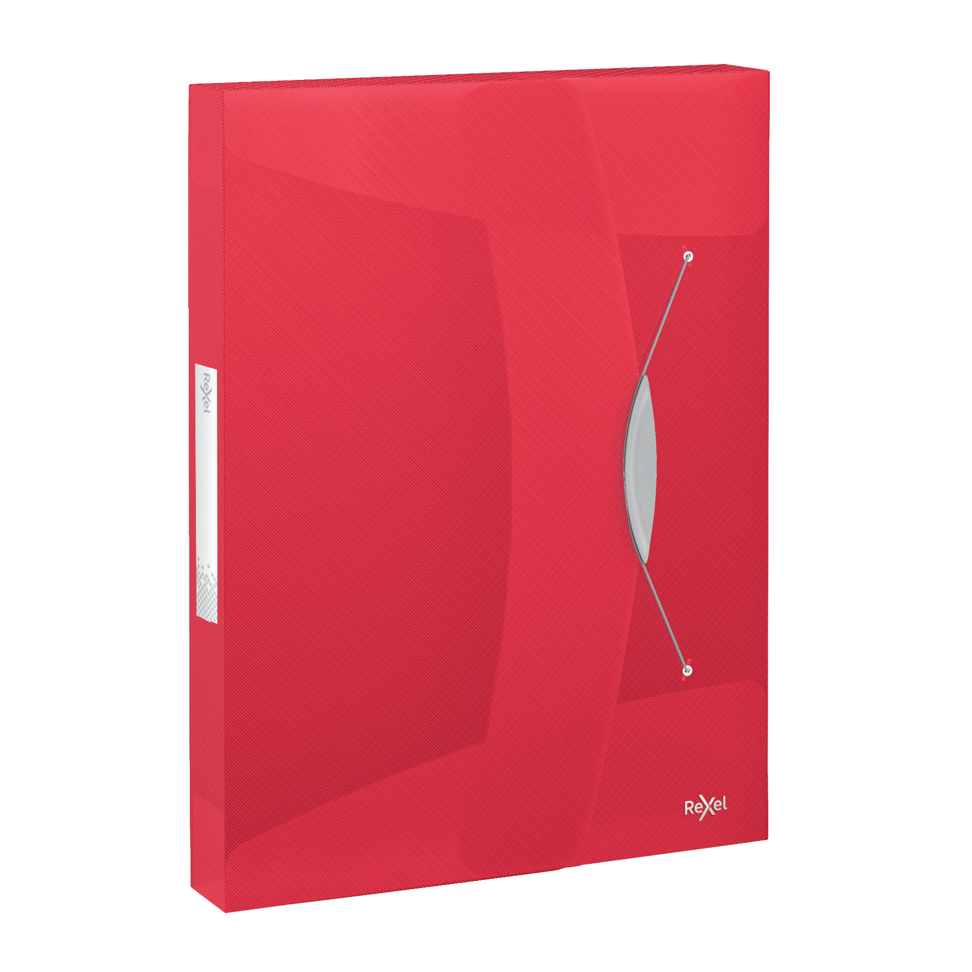 Box Files Rexel Choices Box File PP Elastic Strap 40mm Spine A4 Trans Red Ref 2115668