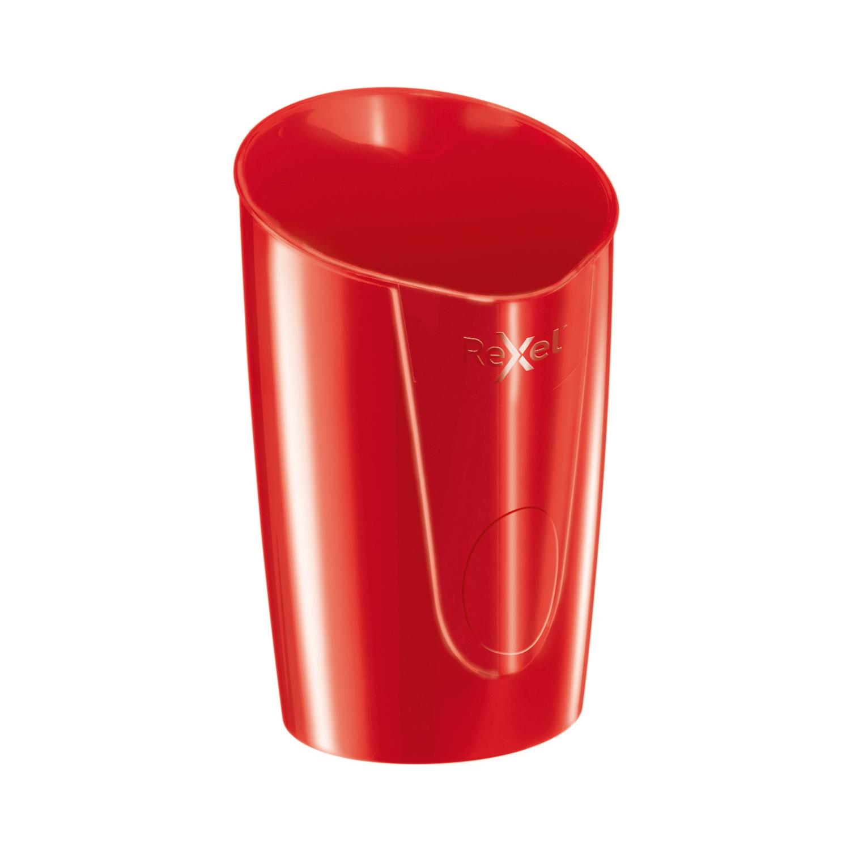 Rexel Choices Pen Pot 90x90x124mm Red Ref 2115617