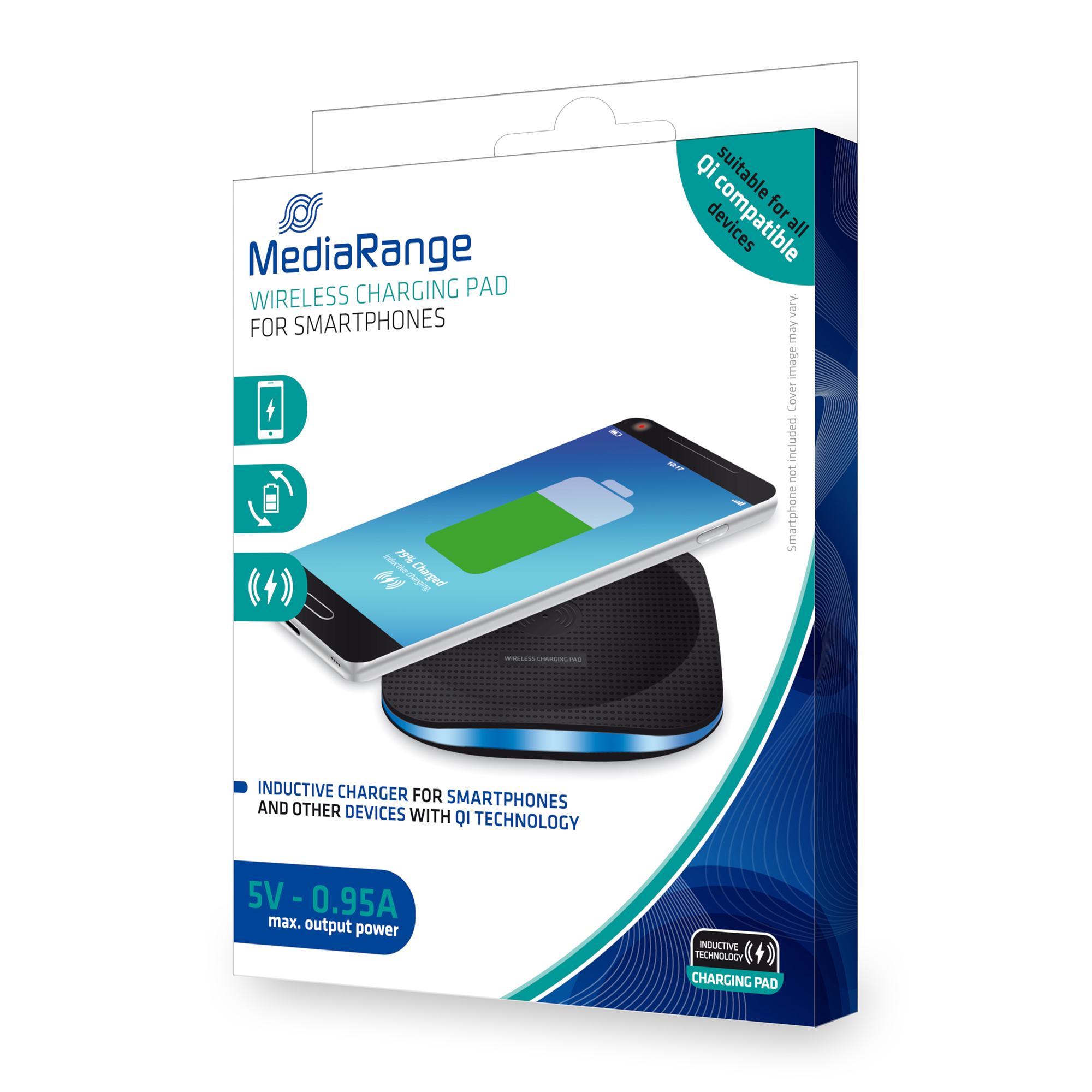 Media Range Wireless Charging Pad With 1metre Micro USB to USB Cable Included Ref MRMA110