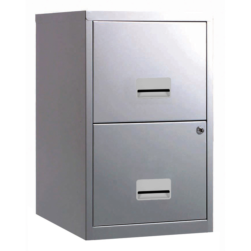 Filing cabinets or accesories Filing Cabinet Steel 2 Drawer A4 400x400x660mm Ref 595000