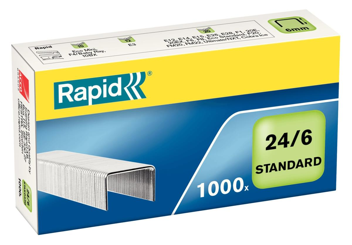 Image for Rapid Staples 24/6mm [Pack 1000] Ref 24855600
