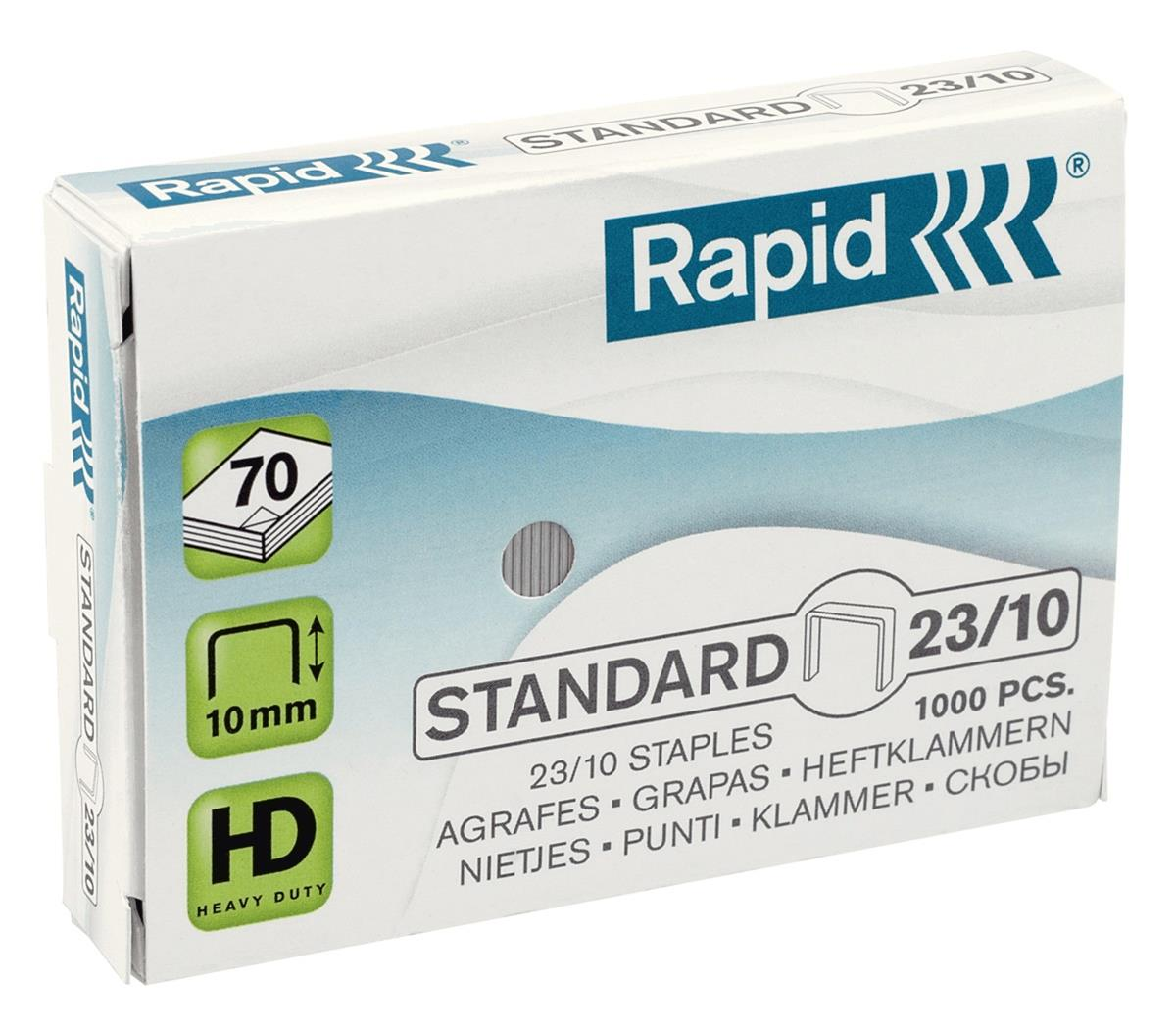 Rapid Staples 23/10mm Ref 24869300 [Pack 1000]