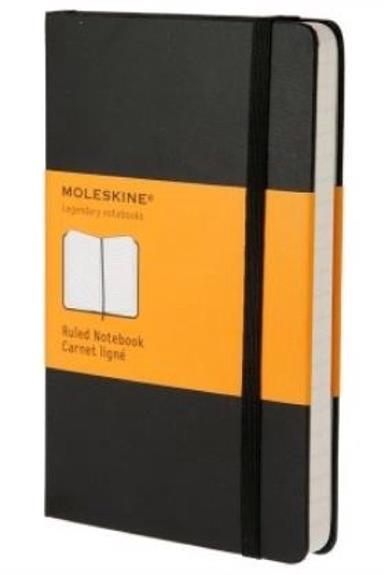 Moleskine Notebook Casebound Hardback Ruled 70gsm 240pp 130x210mm Black Ref QP060