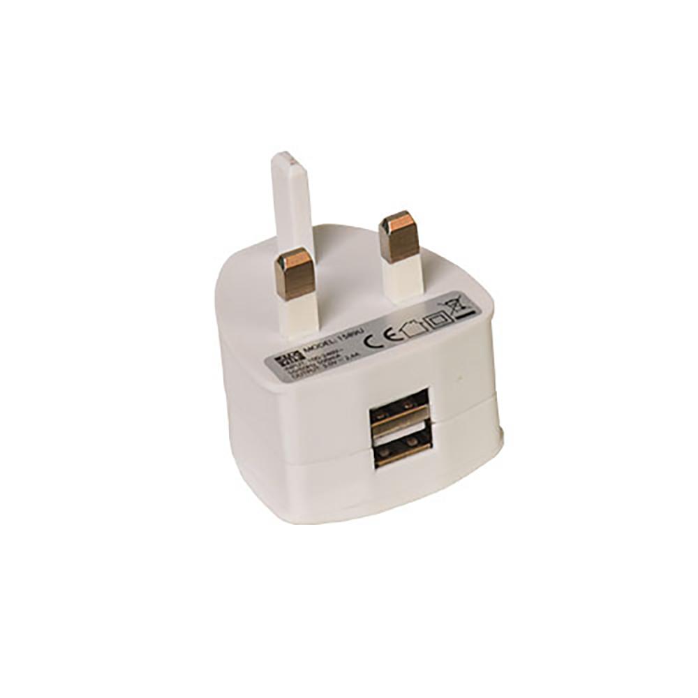 Two Port USB Power Plug Ref TW2USB