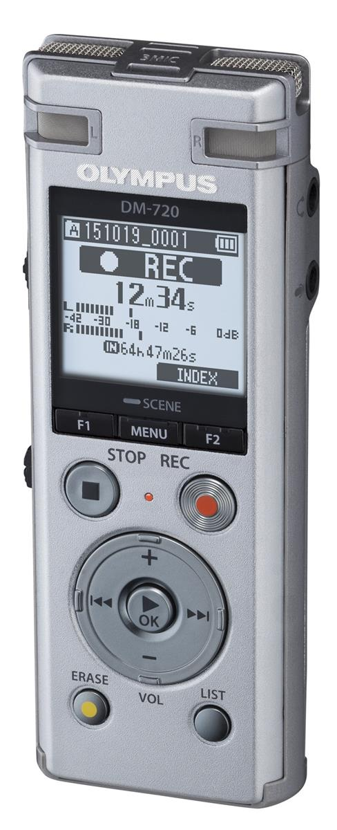 Image for Olympus DM-720 Dictation Machine Silver Rechargeable Built In USB Ref V414111SE000