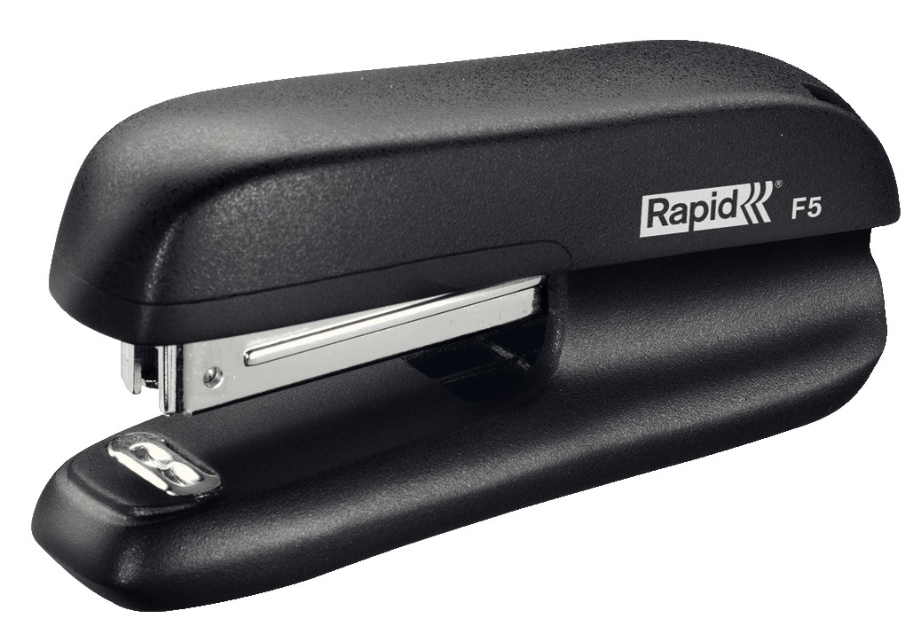 Image for Rapid Mini Stapler F5 2-Strip Staples Up To 10 80gsm Sheets Black Ref 5000264