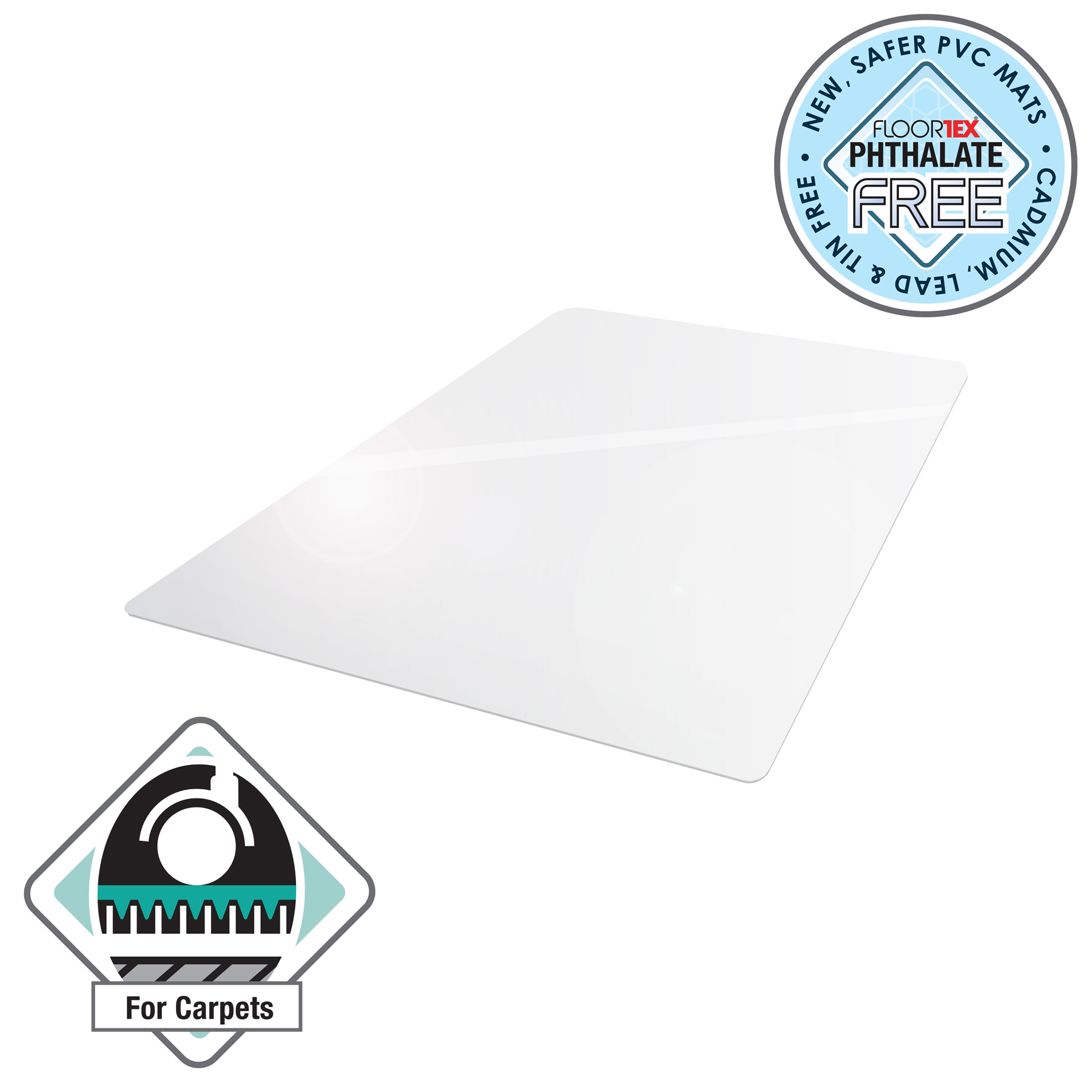 Cleartex Advantagemat Chair Mat For Carpets Rectangular 1200x1500mm Clear Ref FCVPF1115225EV