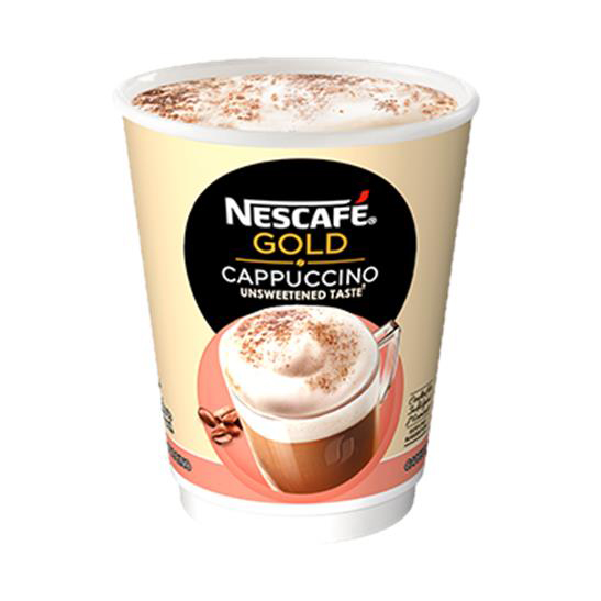 Coffee Nescafe & Go Gold Cappuccino Foil-sealed Cup for Drinks Machine Ref 12367461 Pack 8