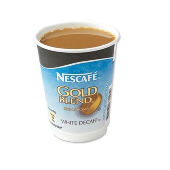 Nescafe & Go Gold Blend Decaffeinated White Coffee Foil-sealed Cup for Machine Ref 12339282 [Pack 8]