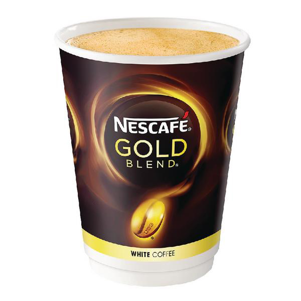 Nescafe & Go Gold Blend White Coffee Foil-sealed Cup for Drinks Machine Ref 12368081 [Pack 8]