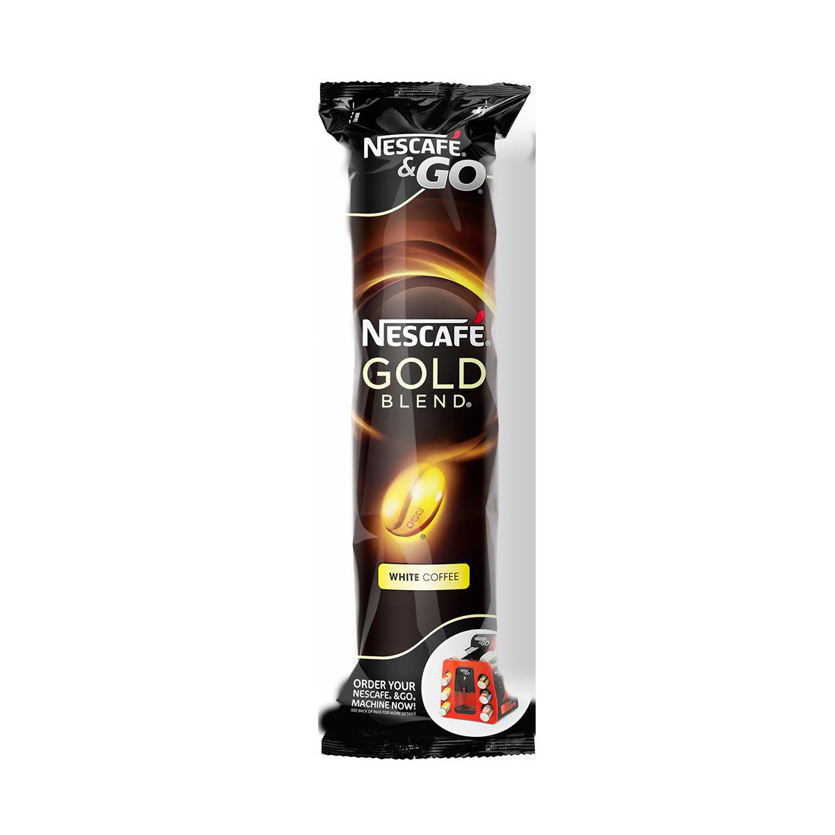 Nescafe & Go Gold Blend White Coffee Foil-sealed Cup for Drinks Machine Ref 12368081 Pack 8