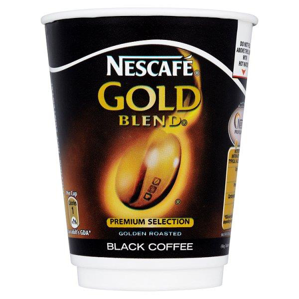 Coffee Nescafe & Go Gold Blend Black Coffee Foil-sealed Cup for Drinks Machine Ref 12367628 Pack 8