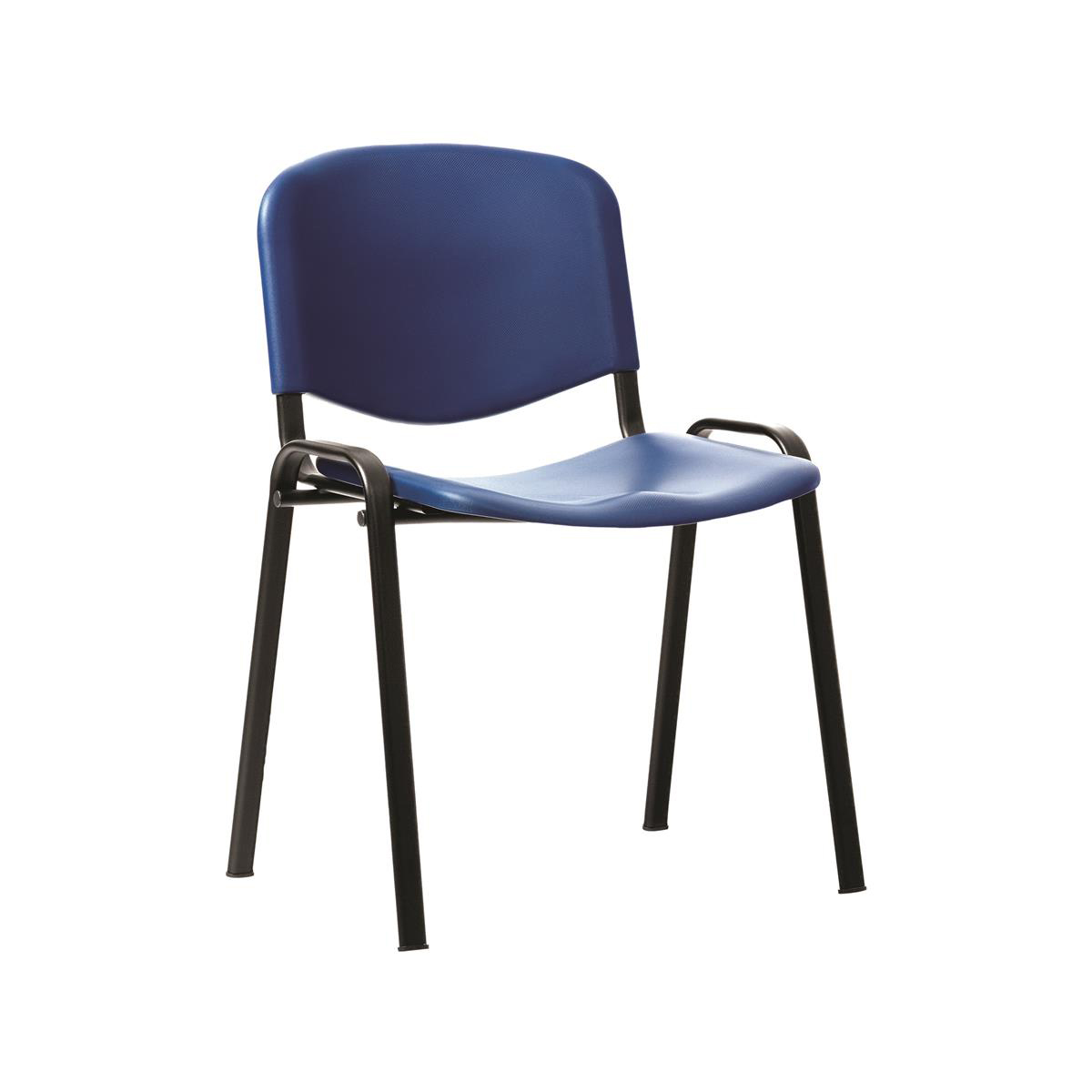 Trexus Stacking Chair Blue Poly 460x390x430mm Ref 746183