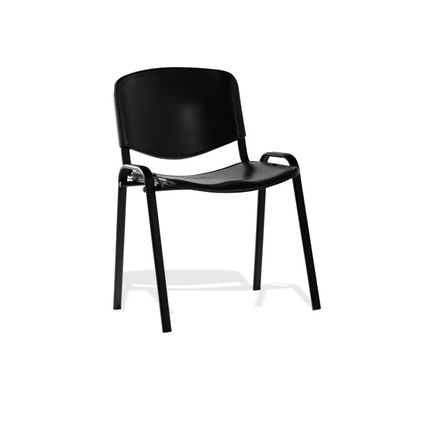 &Trexus Stacking Chair Black Poly 460x390x430mm Ref BR000056