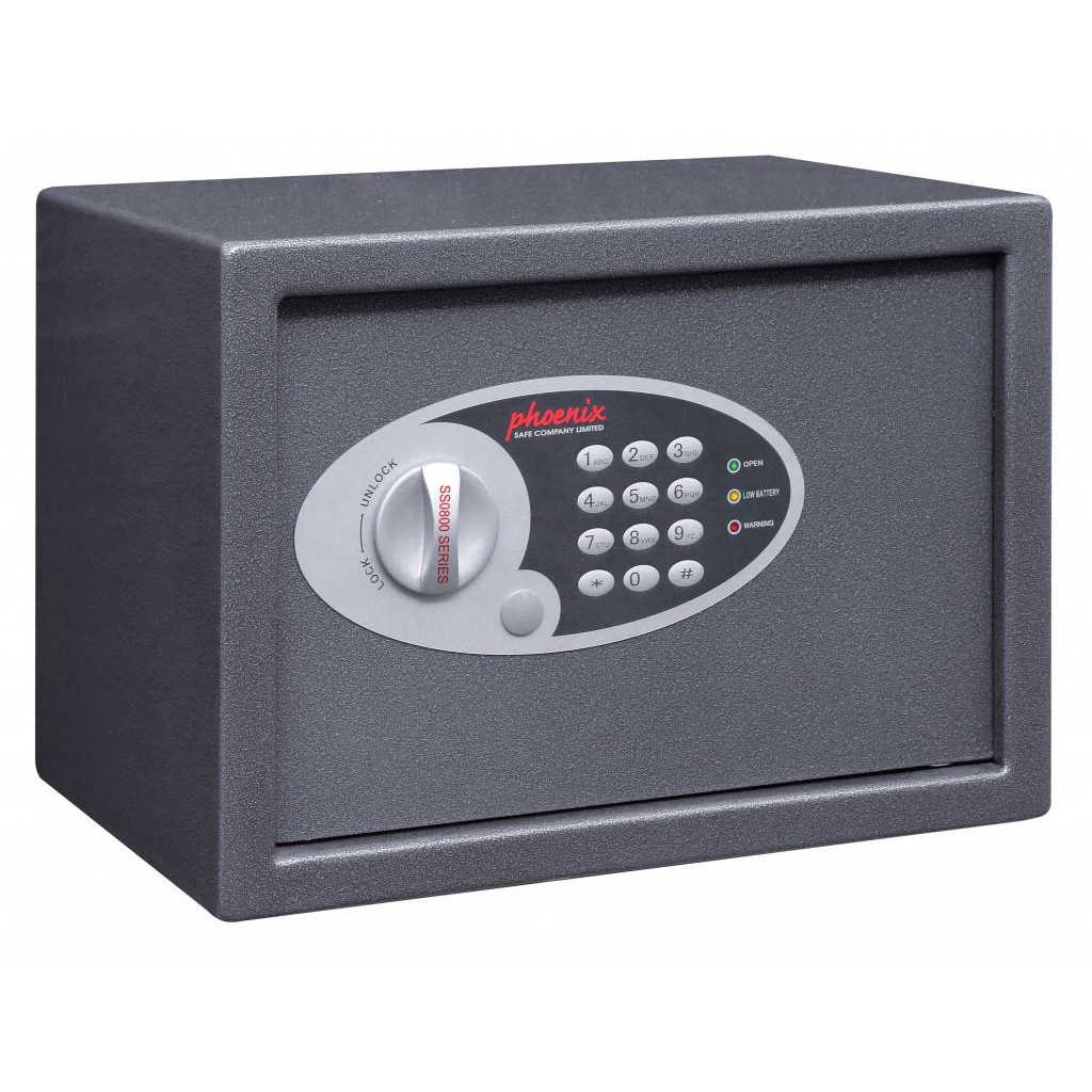 Safes Phoenix Digital Safe Changeable Code Electronic Lock 17L Capacity 8kg W350xD250xH250mm Ref SS0802E
