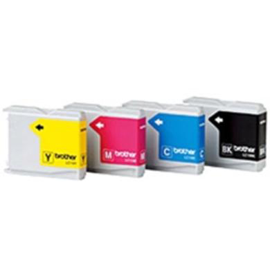 Brother Inkjet Value Pack Page Life 500pp Black/Cyan/Magenta/Yellow Ref LC1000VALBP [Pack 4]