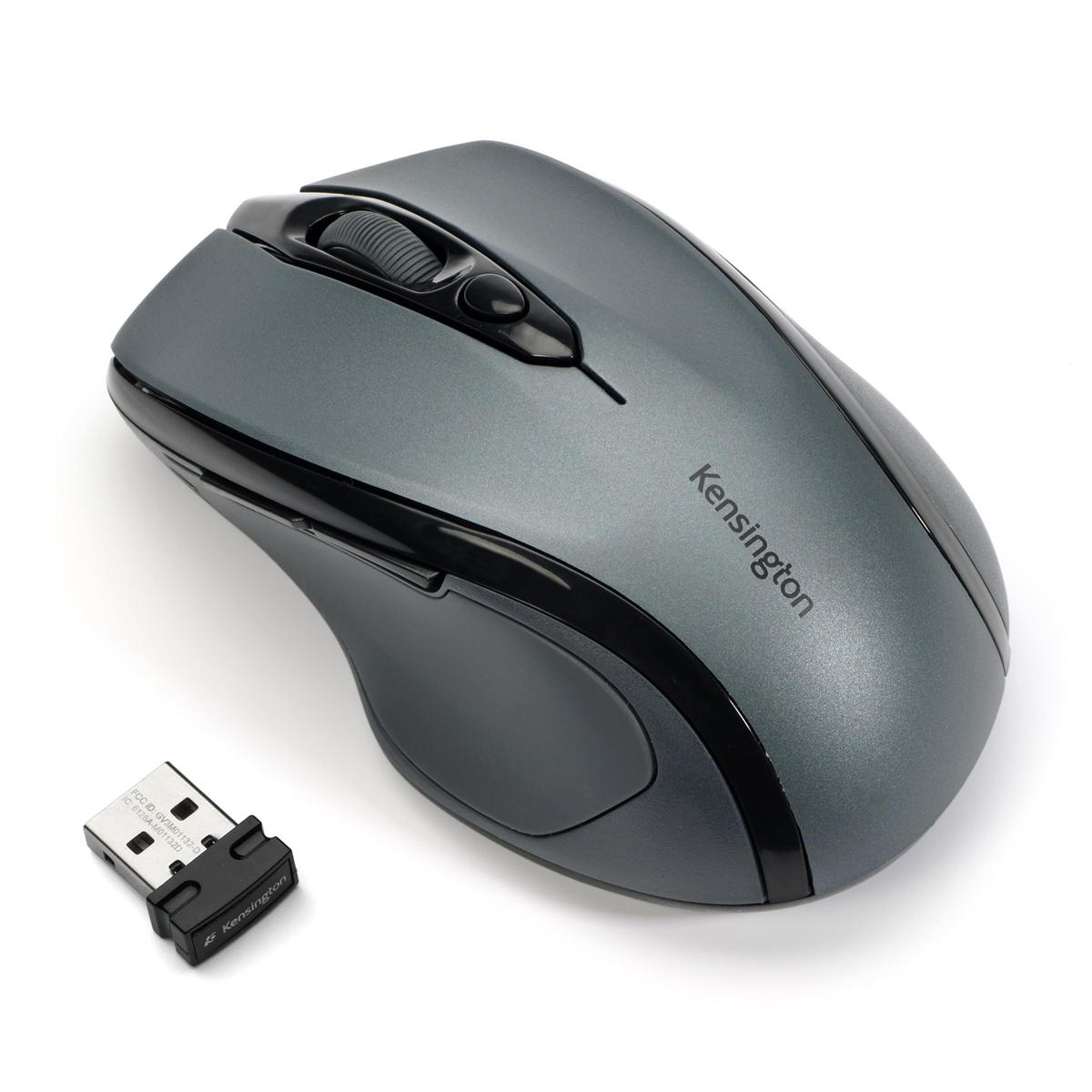 Wireless Kensington Pro Fit Mouse Mid-Size Optical Wireless Right Handed Graphite Grey Ref K72423WW