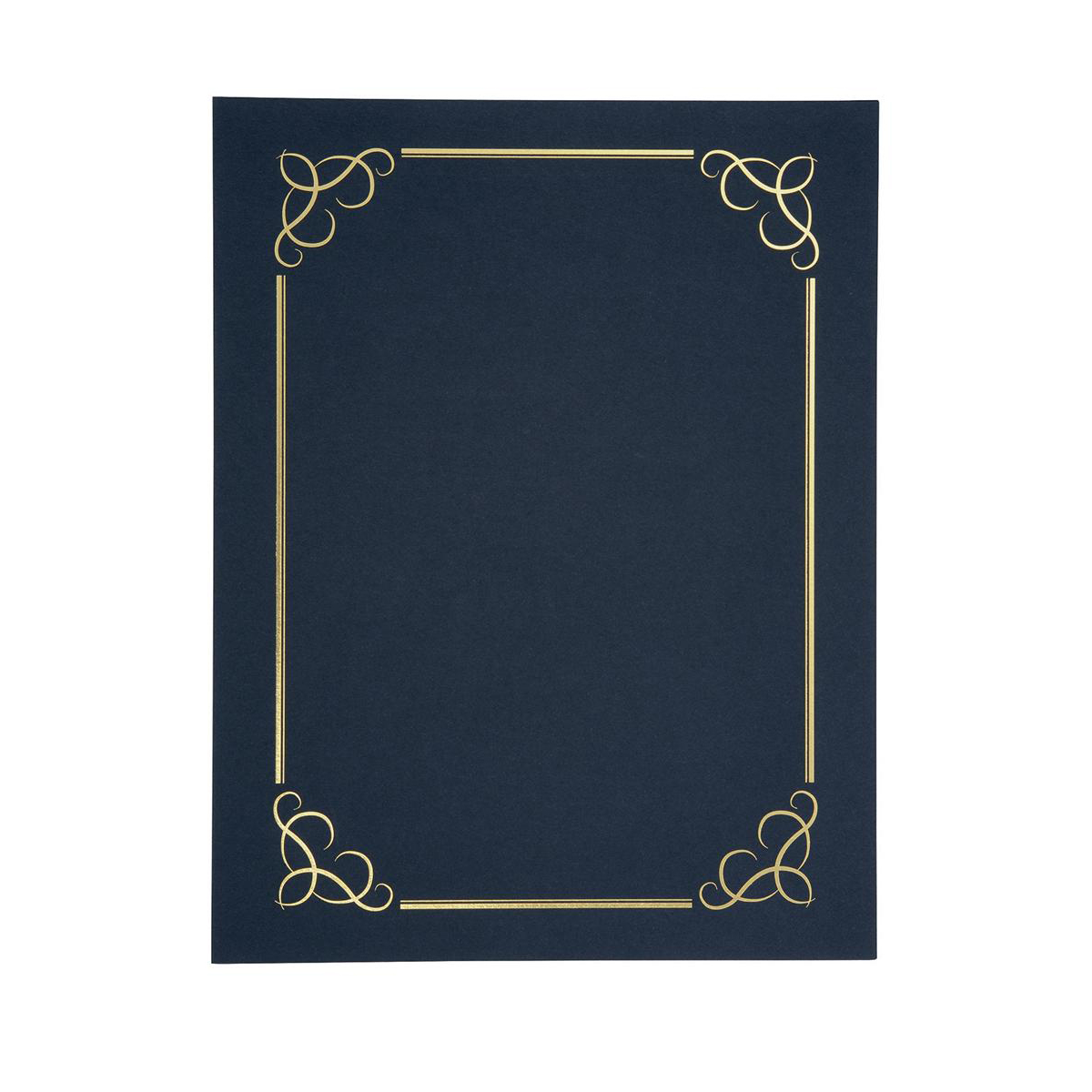 Certificate Covers Linen Finish Heavyweight Card 240g A4 Blue [Pack 5]