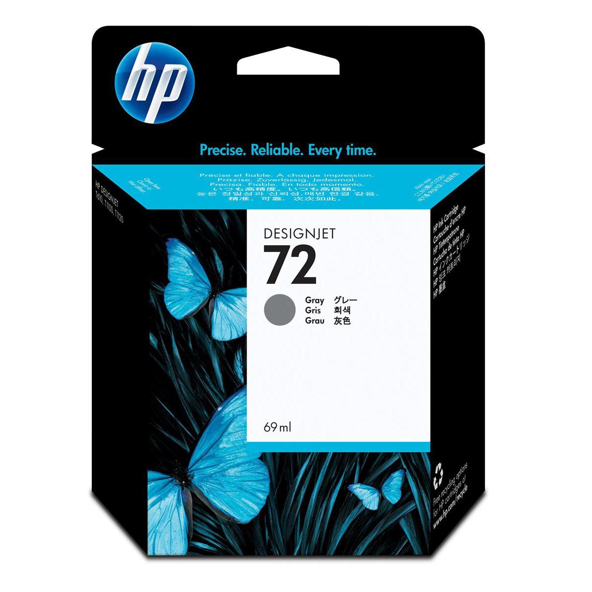 Hewlett Packard [HP] No.72 Inkjet Cartridge 69ml Grey Ref C9401A