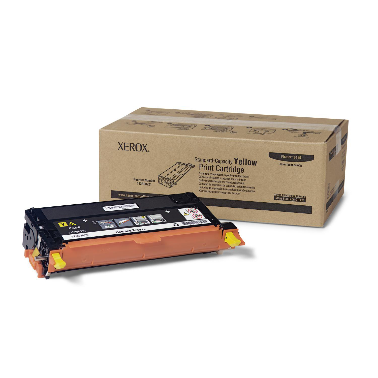Xerox Laser Toner Cartridge Page Life 2000pp Yellow Ref 113R00721
