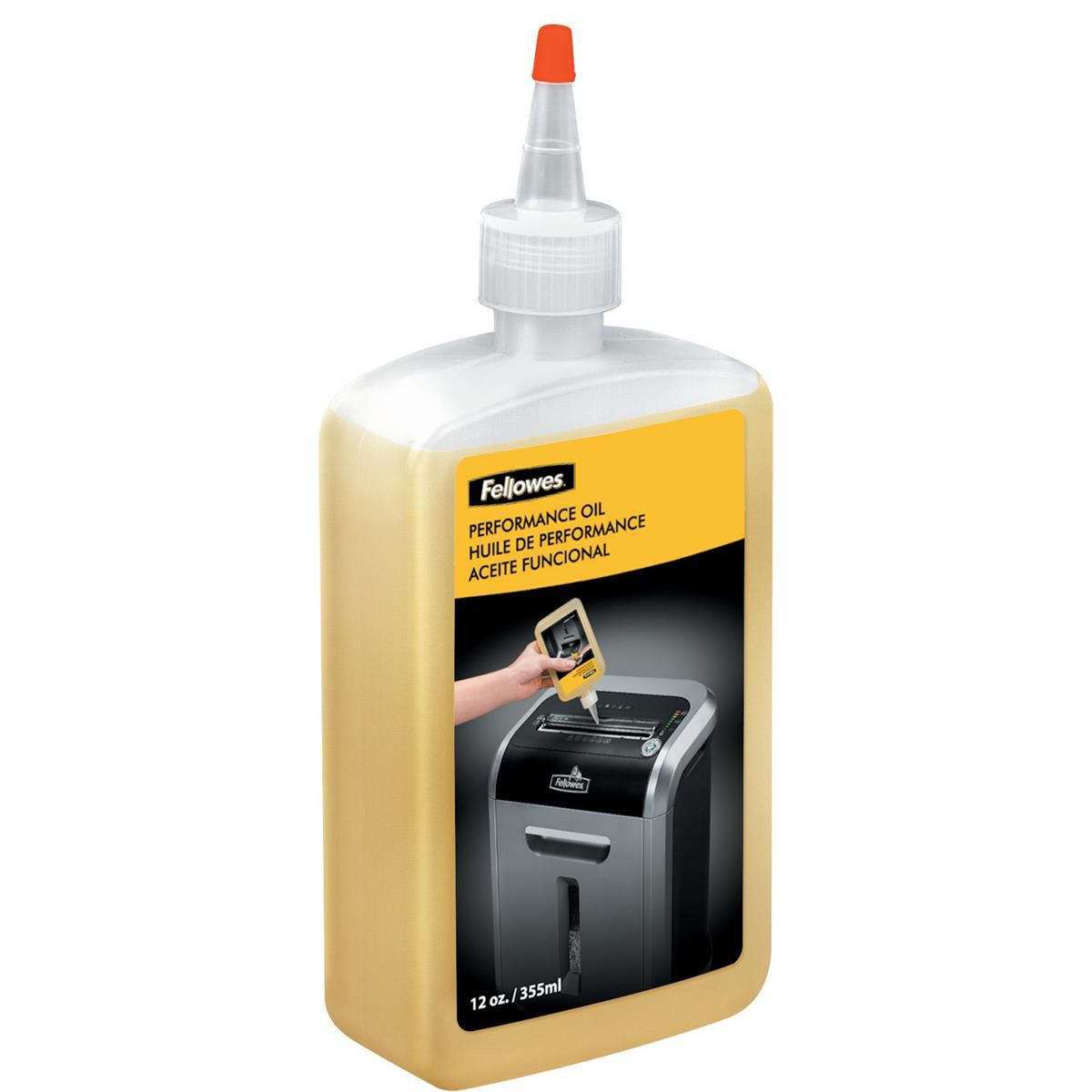 General purpose lubricants Fellowes Shredder Oil for all Cross-cut Shredders Bottle 355ml Ref 35250