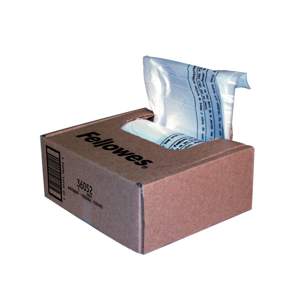 Image for Fellowes Shredder Bags Capacity 23-28 Litre [for SB-87Cs Series] Ref 36052 [Pack 100]