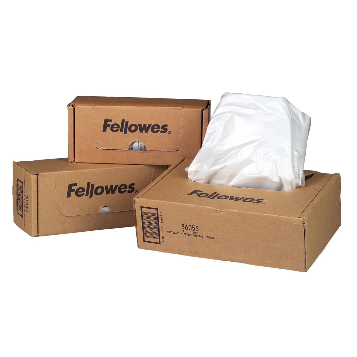 Image for Fellowes Shredder Bags Capacity 23-28 Litre [for SB-87Cs Series] Ref 36052 [Pack 100]