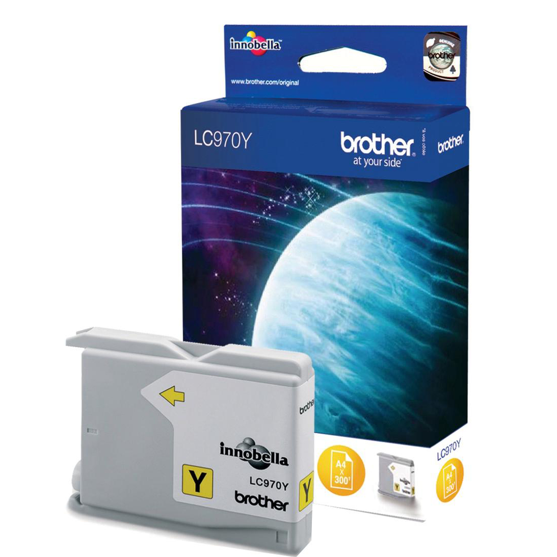 Brother Inkjet Cartridge Page Life 300pp Yellow Ref LC970Y