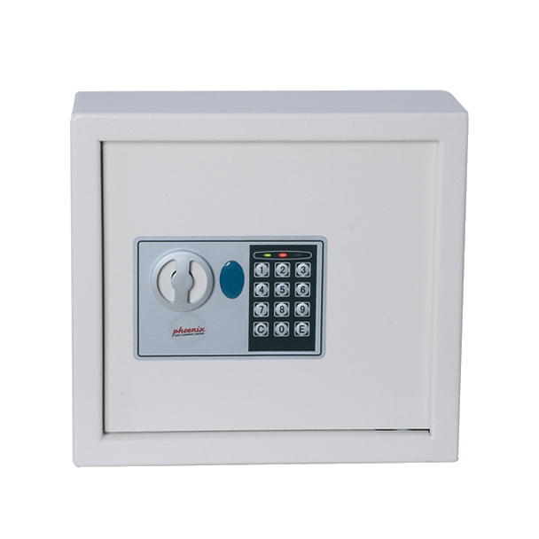 Phoenix 0031 Key Safe Electronic with Fixings Keyrings and Tags 30 Keys 6.5kg W300xD100xH280mm RefKS0031E