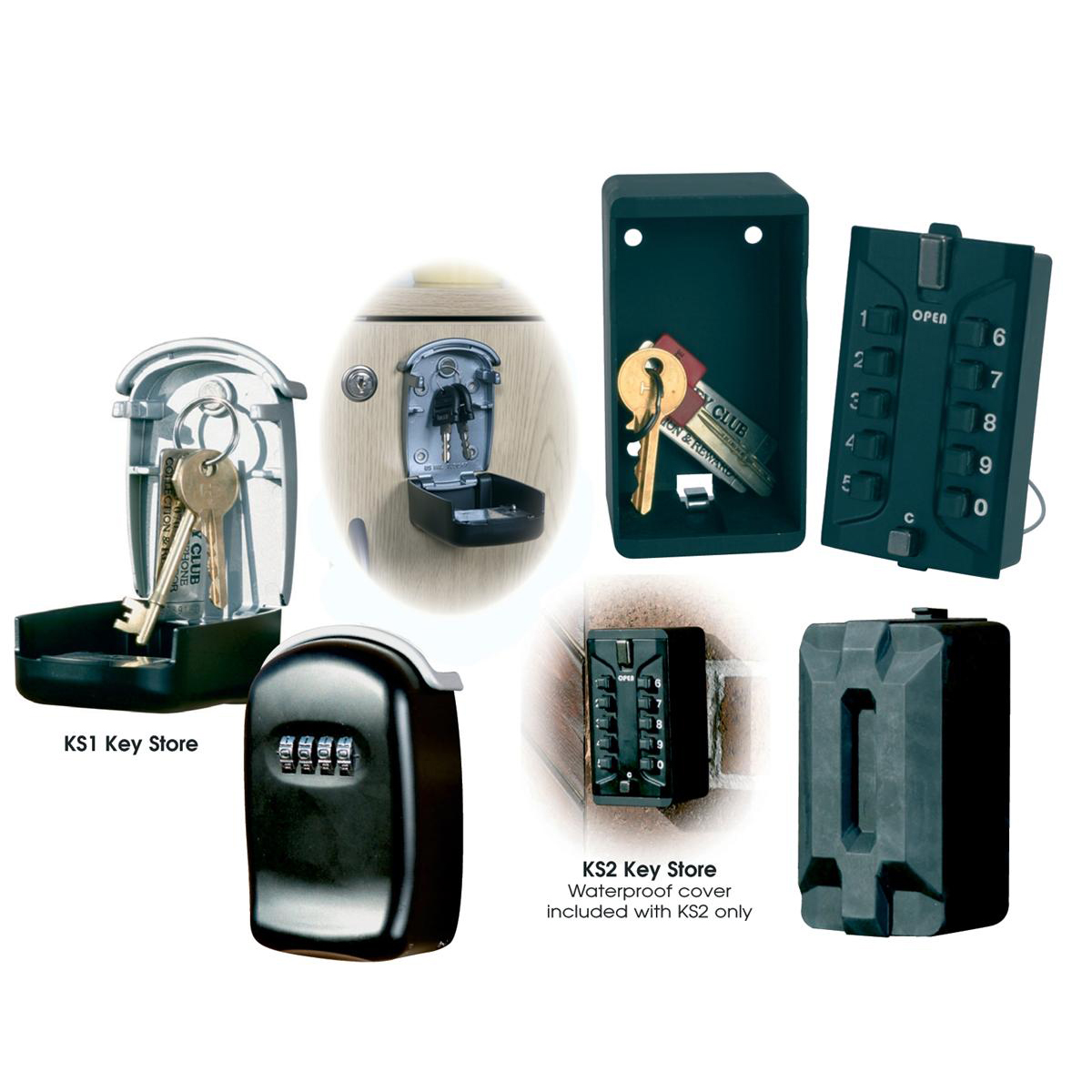 Phoenix Key Store Safe Box Combination Lock W65xD35xH100mm Ref KS0001C