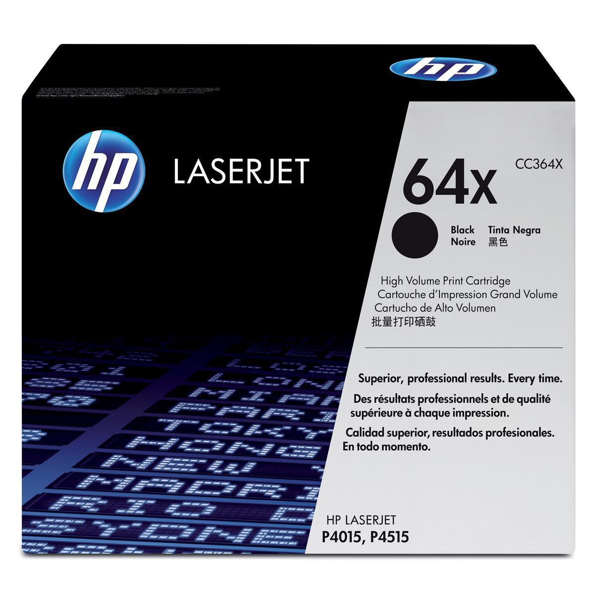 Hewlett Packard [HP] No. 64X Laser Toner Cartridge High Yield Page Life 24000pp Black Ref CC364X