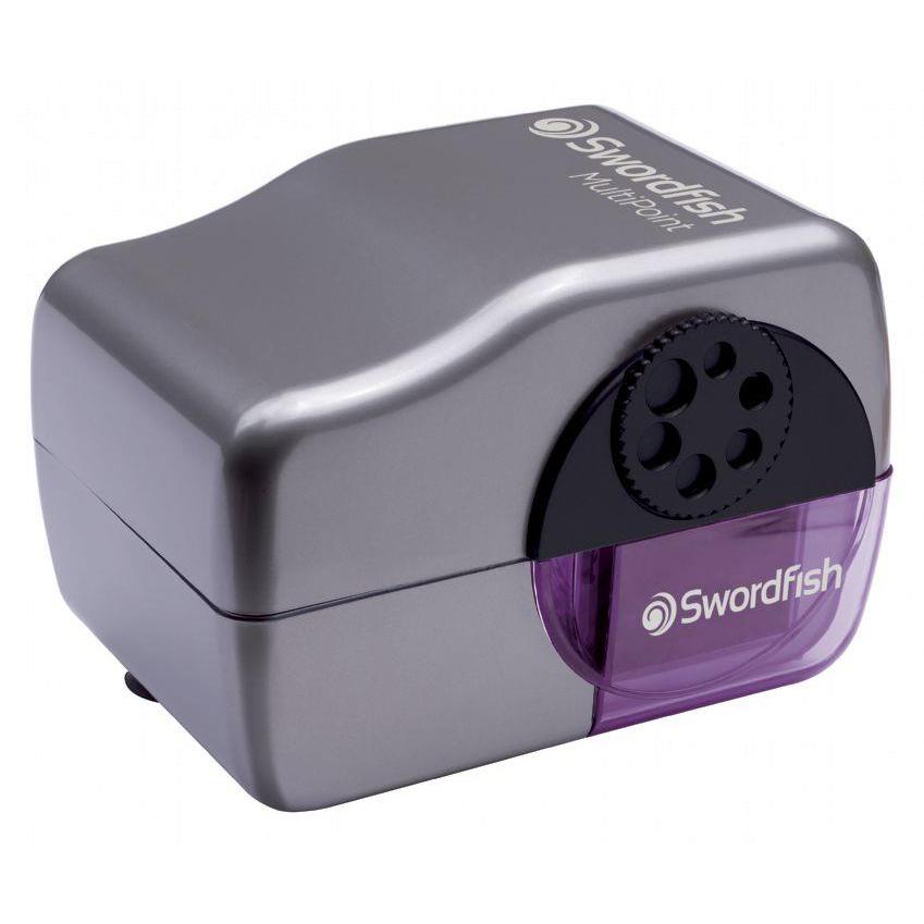 Swordfish MultiPoint Pencil Sharpener Battery/Mains Ref 40233