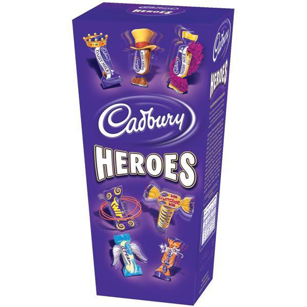 Chocolate or chocolate substitute candy Cadbury Heroes Miniature Chocolates Selection Box 185g Ref A07945